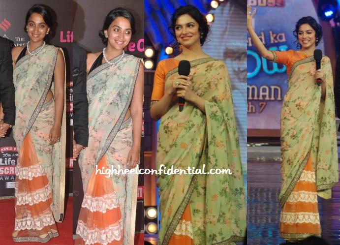 priyanka-alva-divya-khosla-sabyasachi-screen-awards-bigg-boss