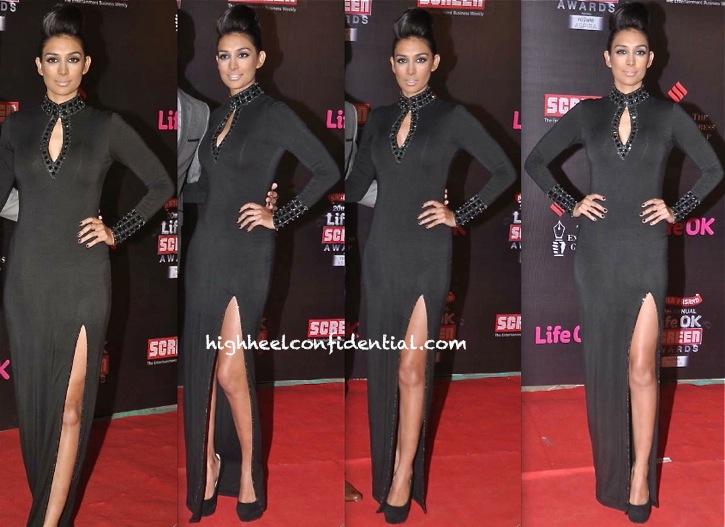 screen awards 2014-preeti desai-bare in black