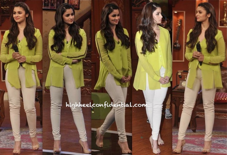 Alia Bhatt On 'Comedy Nights With Kapil' Sets For Highway Promotions-1