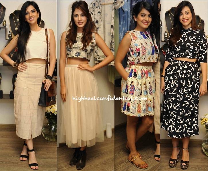 Amrita Puri, Nishka Lulla, Vishakha Singh And Rhea Chakraborty At Atosa Collection Preview Event
