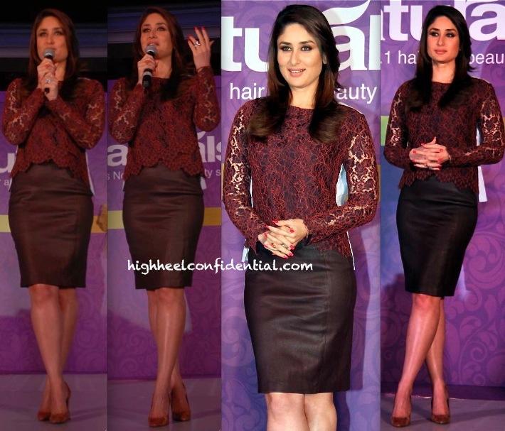 Kareena Kapoor In Carven And DvF At Naturals Press Meet-1