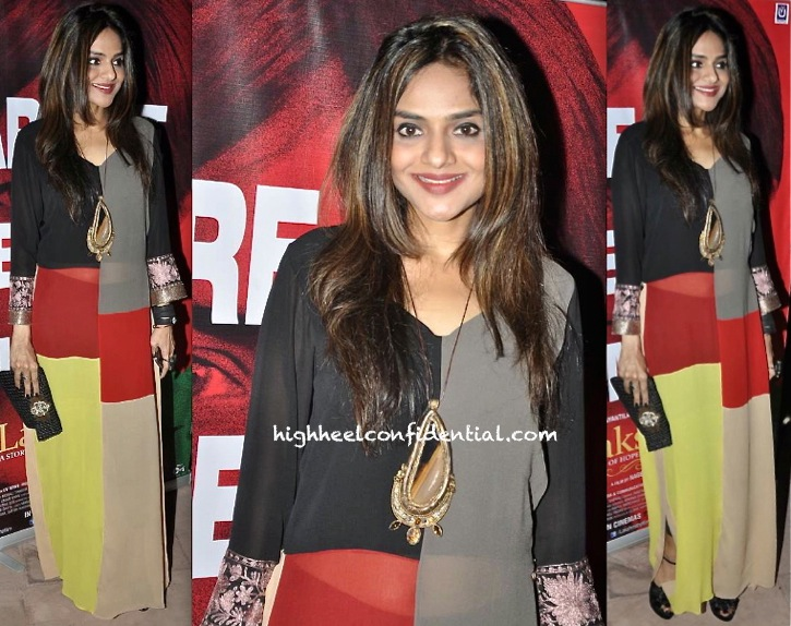 Madhoo Shah In Manish Malhotra At Nagesh Kukunoor's Party