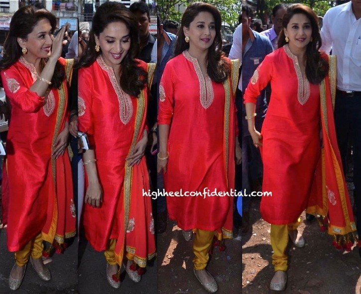 Madhuri Dixit In Nikasha At An Education For Kids Event