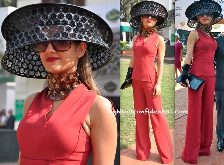 Natasha Poonawala In Roland Mouret And Alexander McQueen At McDowell Signature Derby-1