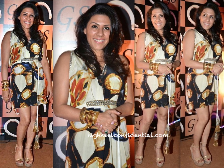 Reshma Merchant In Pria Kataria Puri At Gaurav Sethi Do