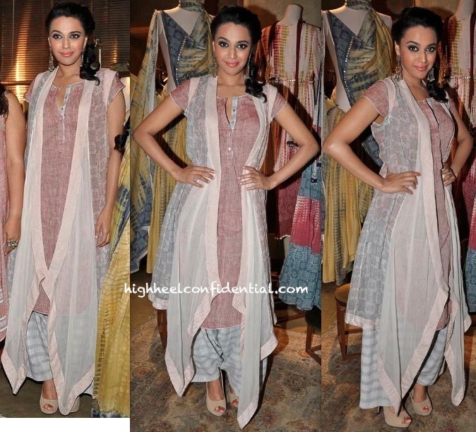 Swara Bhaskar At Urvashi Kaur's Collection Launch At Ensemble