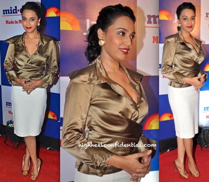 Swara Bhaskar In Lecoanet And Hemant And Zara At Mid-Day Bash