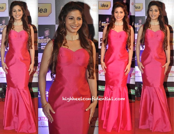 Tanisha Mukherjee In Harsh Harsh At Mirchi Music Awards 2014
