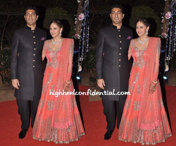 ahana-deol-manish-malhotra-wedding-reception