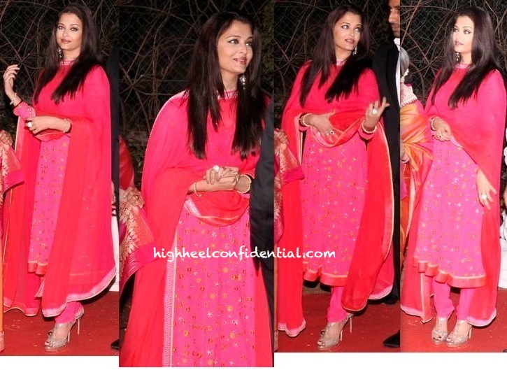 ahana deol-vaibhav vora wedding reception-aishwarya rai bachchan