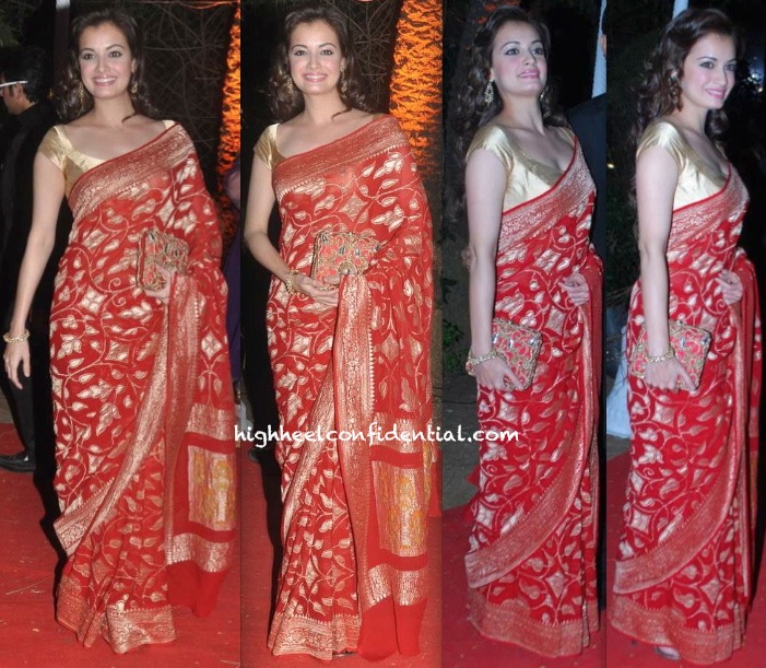 ahana deol-vaibhav vora wedding reception-dia mirza