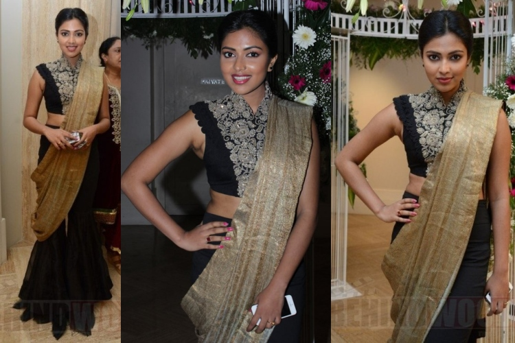 amala-paul-anamika-khanna-ramya-aparajith-wedding-reception
