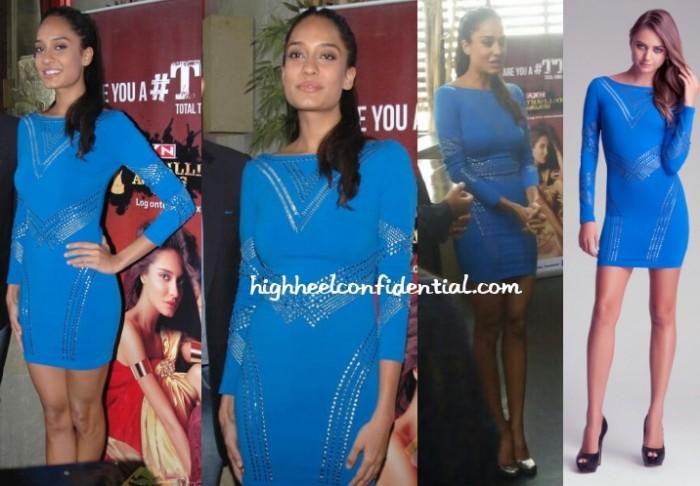 lisa-haydon-bebe-axn-thrillionaire-awards-bangalore