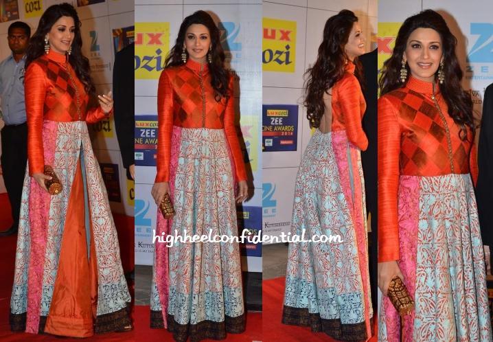 sonali-bendre-manish-malhotra-zee-cine-awards-2014