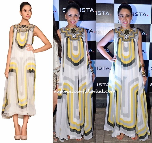 Amrita Puri In Label Ritu Kumar At The Stylista Party