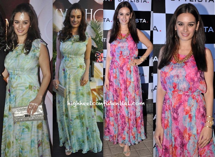 Evelyn Sharma Wears Her Own Designs To The Grazia And Jimmy Choo Do And To The Stylista Party
