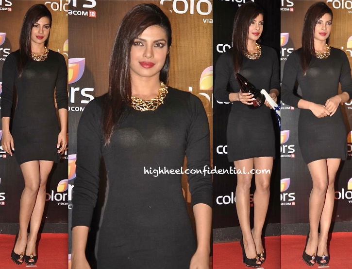 In Zadig & Voltaire-Priyanka Chopra At Colors TV Party