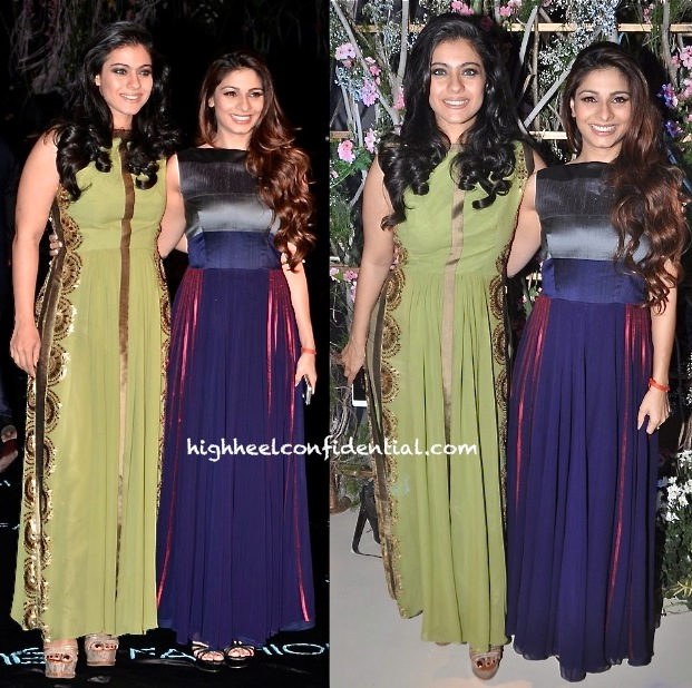 Kajol And Tanisha At Manish Malhotra's Show, LFW Summer 2014-1