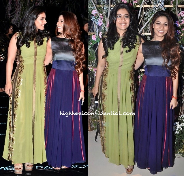 Kajol And Tanisha At Manish Malhotra's Show, LFW Summer 2014-2