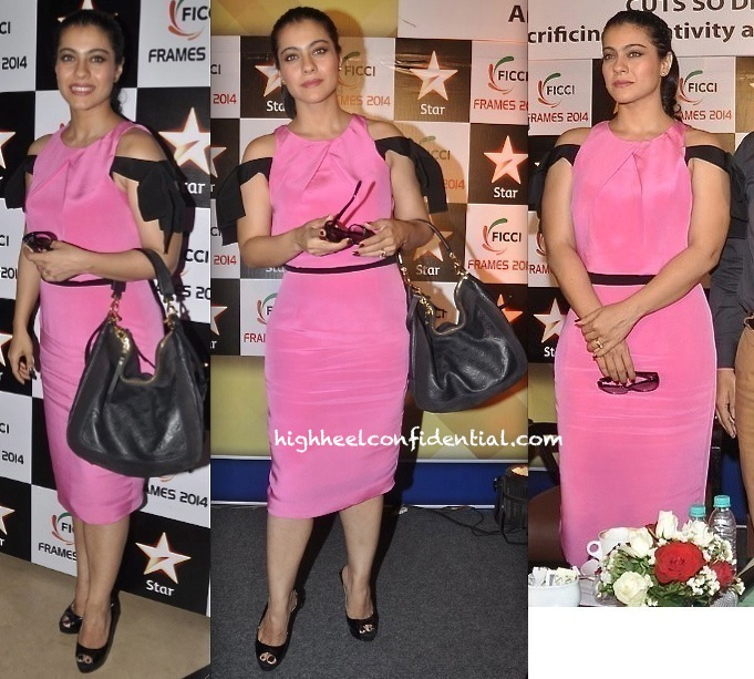 Kajol In Prabal Gurung At FICCI Frames 2014-1