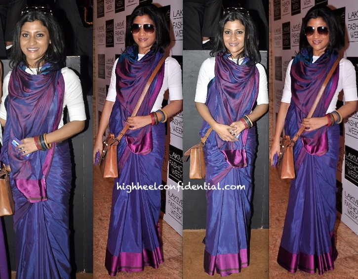 Konkona Sen Sharma In Payal Khandwala At Lakme Fashion Week