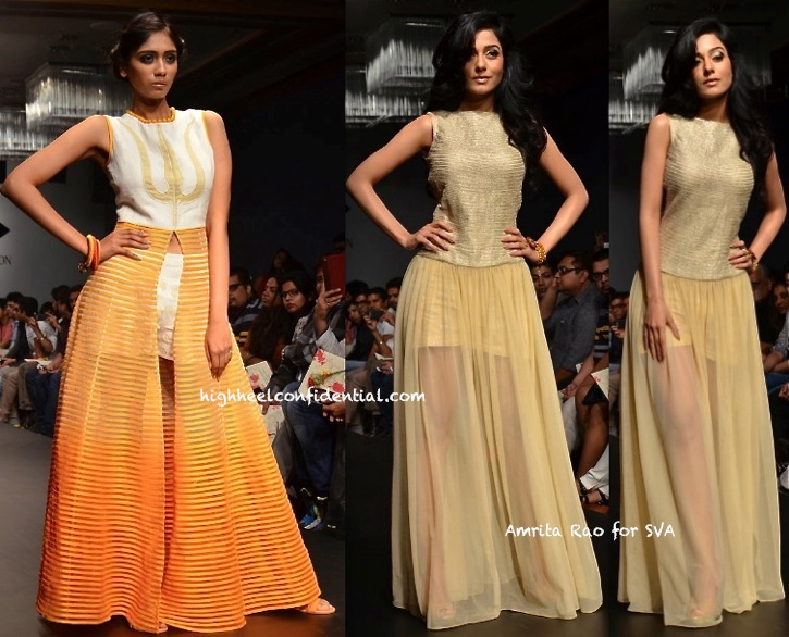 Lakme Fashion Week Summer:Resort 2014- SVA By Sonam & Paras Modi-1