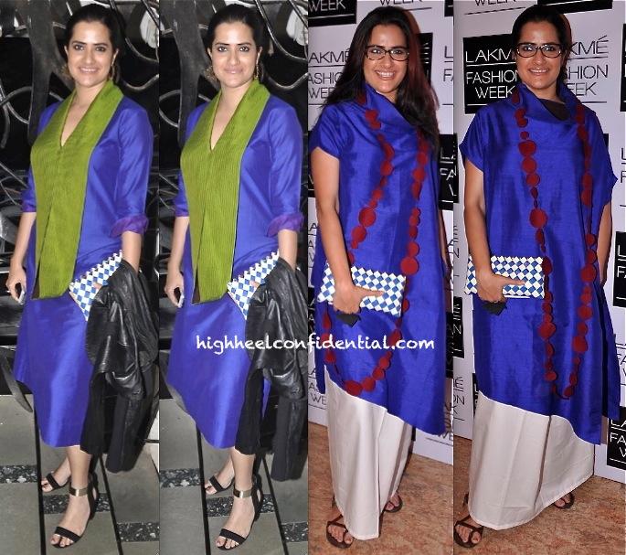 Sona Mohapatra In Payal Khandwala At 'Blame It On Yashraj' Play And At Lakme Fashion Week