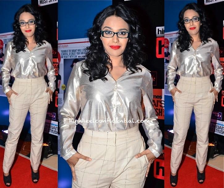 Swara Bhaskar In Nishka Lulla At HT Most Stylish Awards 2014