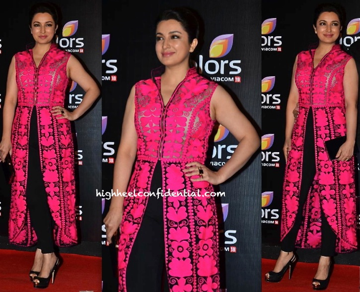 Tisca Chopra In Pankaj And Nidhi At Colors TV Party
