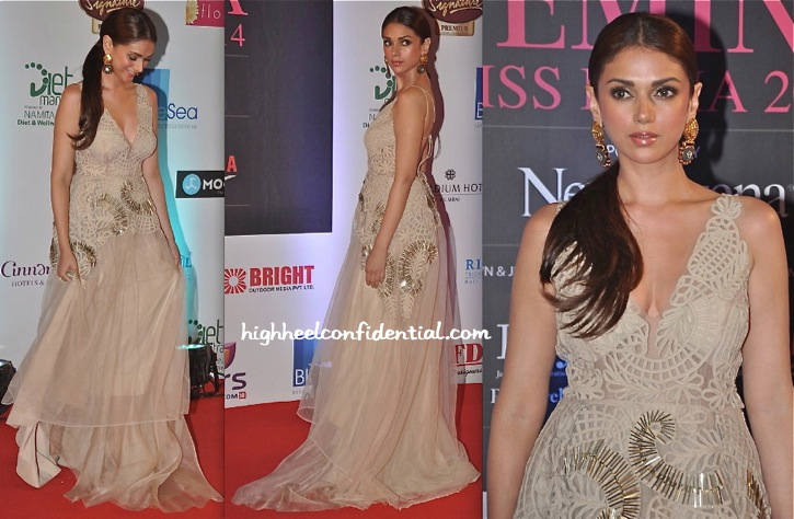 Aditi Rao Hydari In Jade At Femina Miss India 2014 Pageant-2