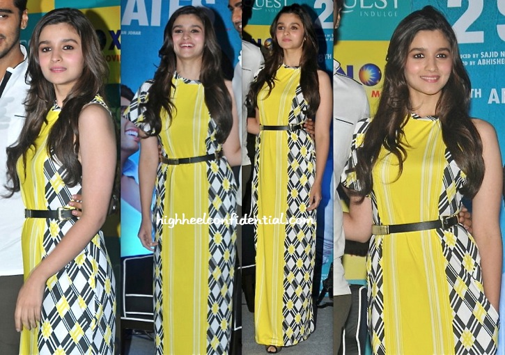 Alia Bhatt Promotes 2 States In Kolkata Wearing Surendri By Yogesh Chaudhary