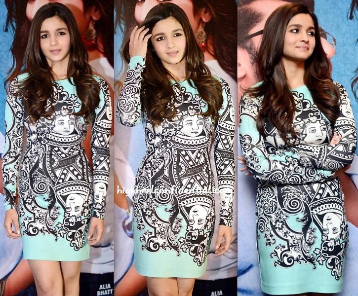 Alia Bhatt Wears Pankaj And Nidhi To '2 States' Promotion In Delhi-2