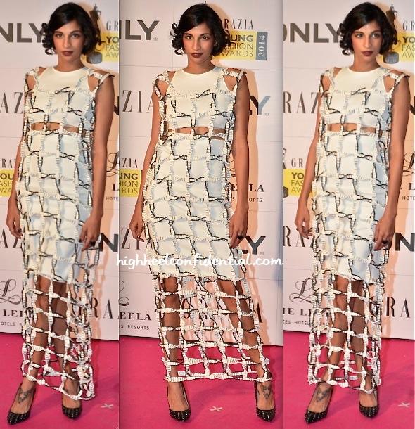 Anushka Manchanda At Grazia Young Fashion Awards 2014-anand bhushan-1