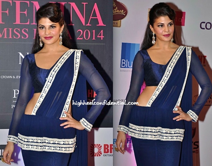 Jacqueline Fernandez In Manish Malhotra At Femina Miss India 2014 Pageant-2