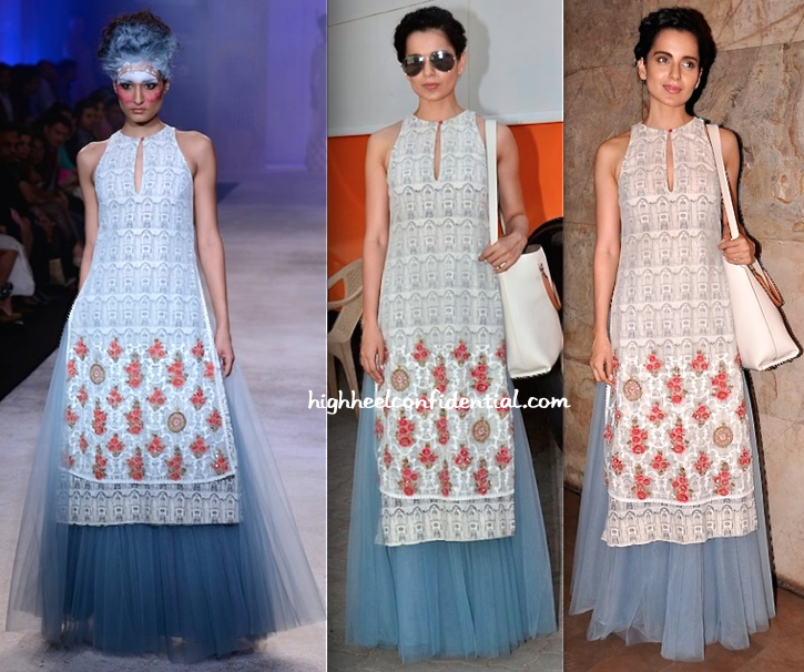 Kangna Ranaut In Anju Modi At 'Revolver Rani' Screening And Interviews-1