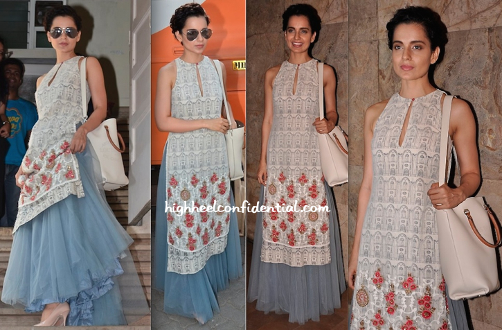 Kangna Ranaut In Anju Modi At 'Revolver Rani' Screening And Interviews-2