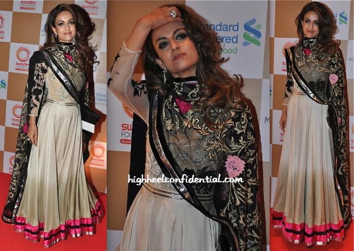 Natasha Poonawala In Varun Bahl At Swades Foundation Event