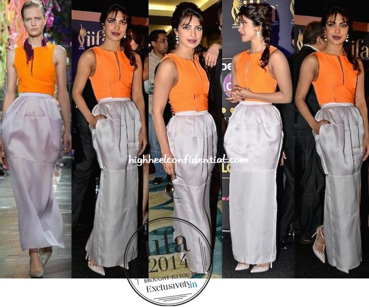 Priyanka Chopra In Dior At IIFA Awards 2014 Press Meet-Expo