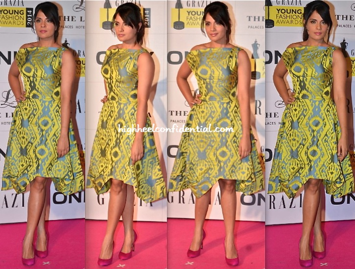 Richa Chadda In Vivienne Westwood At Grazia Young Fashion Awards 2014