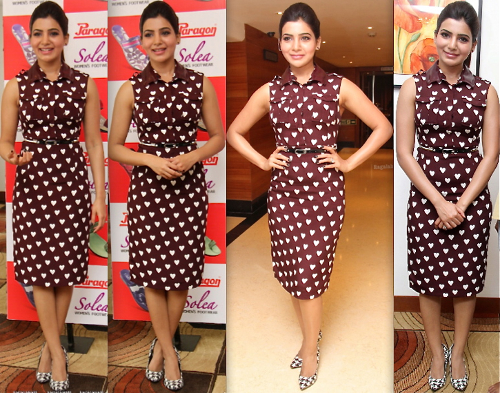 Samantha Ruth Prabhu In Burberry Prorsum At Paragon Press Meet-1