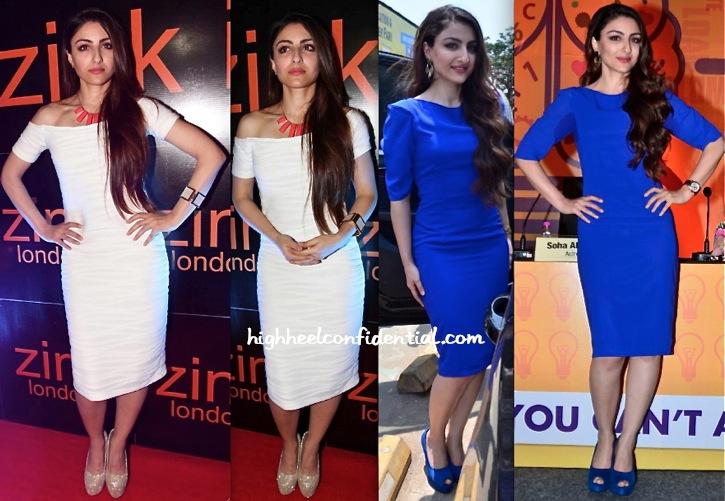 Soha Ali Khan At Zink London Store Launch And At Education Fair Launch