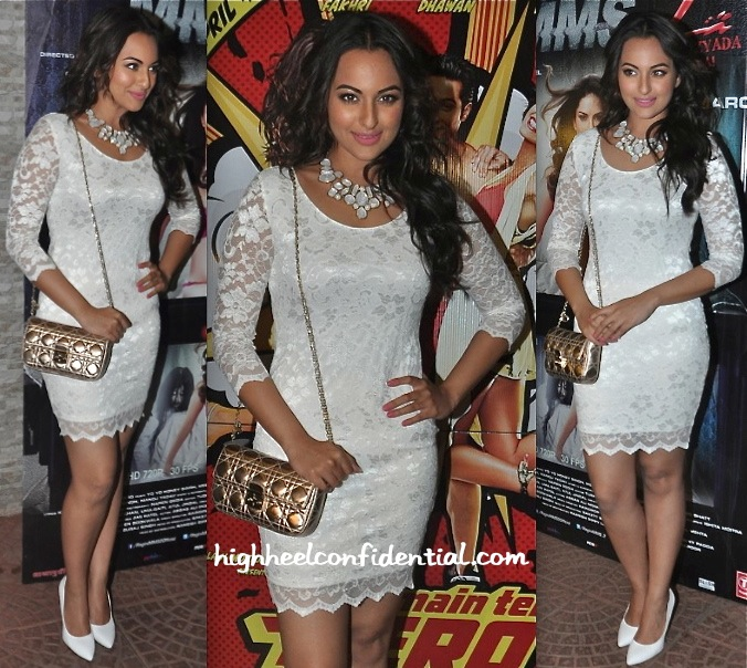 Sonakshi Sinha In ASOS At 'Main Tera Hero' Success Party