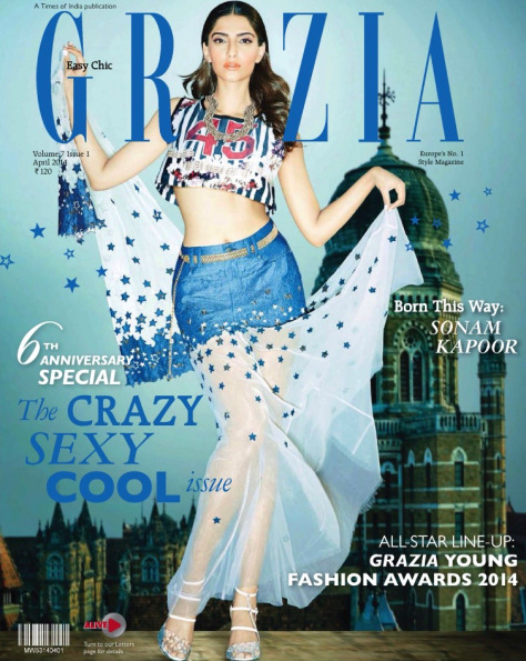 Sonam Kapoor On Grazia's April Issue