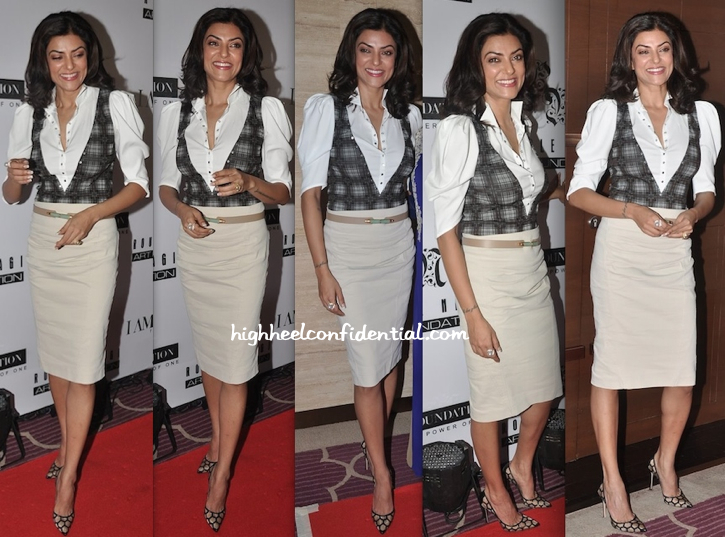 Sushmita Sen At A Luncheon Hosted By Rouble Nagi-1
