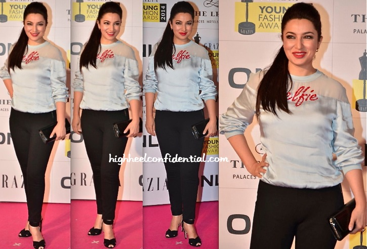 Tisca Chopra In Huemn At Grazia Young Fashion Awards 2014