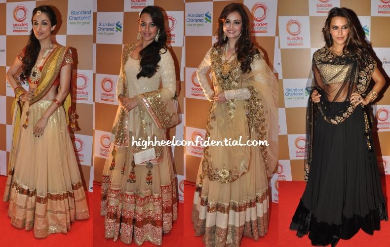 malaika-sonakshi-neha-dia-vikram-phadnis-swades-foundation-charity-auction-show-1