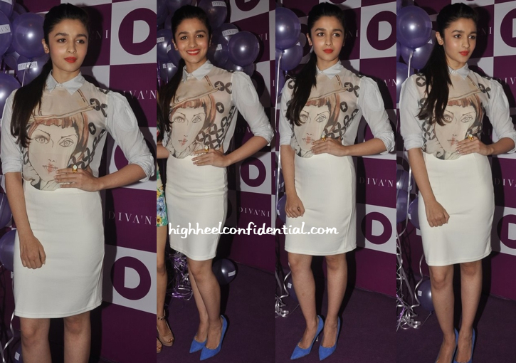 Alia Bhatt At Diva'Ni Store Launch