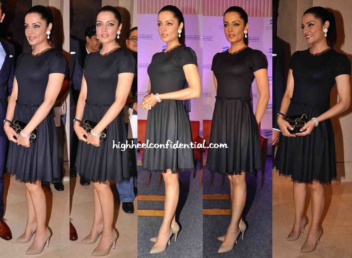 Celina Jaitly In Red Valentino At UN Free And Equal Campaign's Song Launch-1