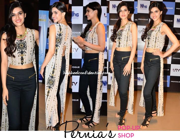 Kriti Sanon Promotes 'Heropanti' Wearing Payal Singhal