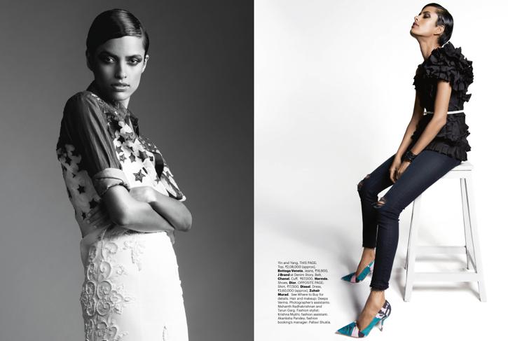 Lakshmi Menon Covers Harper's Bazaar June '14 Issue Wearing Louis Vuitton-3